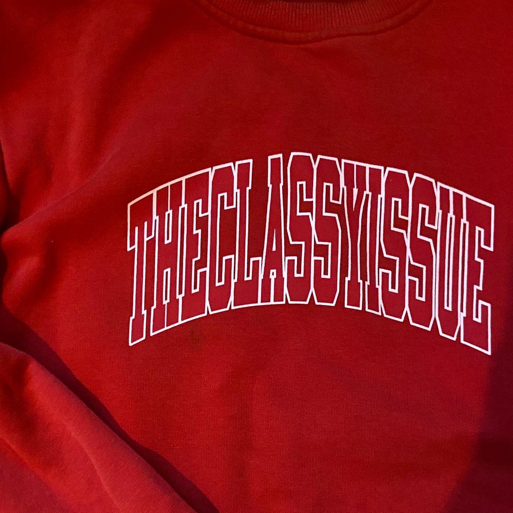 Äkta tjocktröja från The Classy Issue! Nyskick pga använd fåtal gånger! Oversize i storleken! 🤍. Huvtröjor & Träningströjor.
