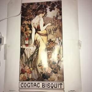 ALFONS MUCHA - COGNAC BISQUIT. Plansch av Alfons Mucha superfin.