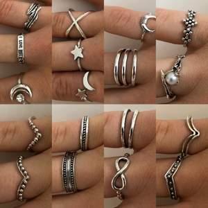 Säljer dessa ringar, 50kr styck + 10kr frakt, fri frakt vid köp av 2 eller fler💕