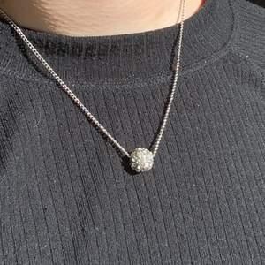 Silvrigt halsband med en fin berlock🌶