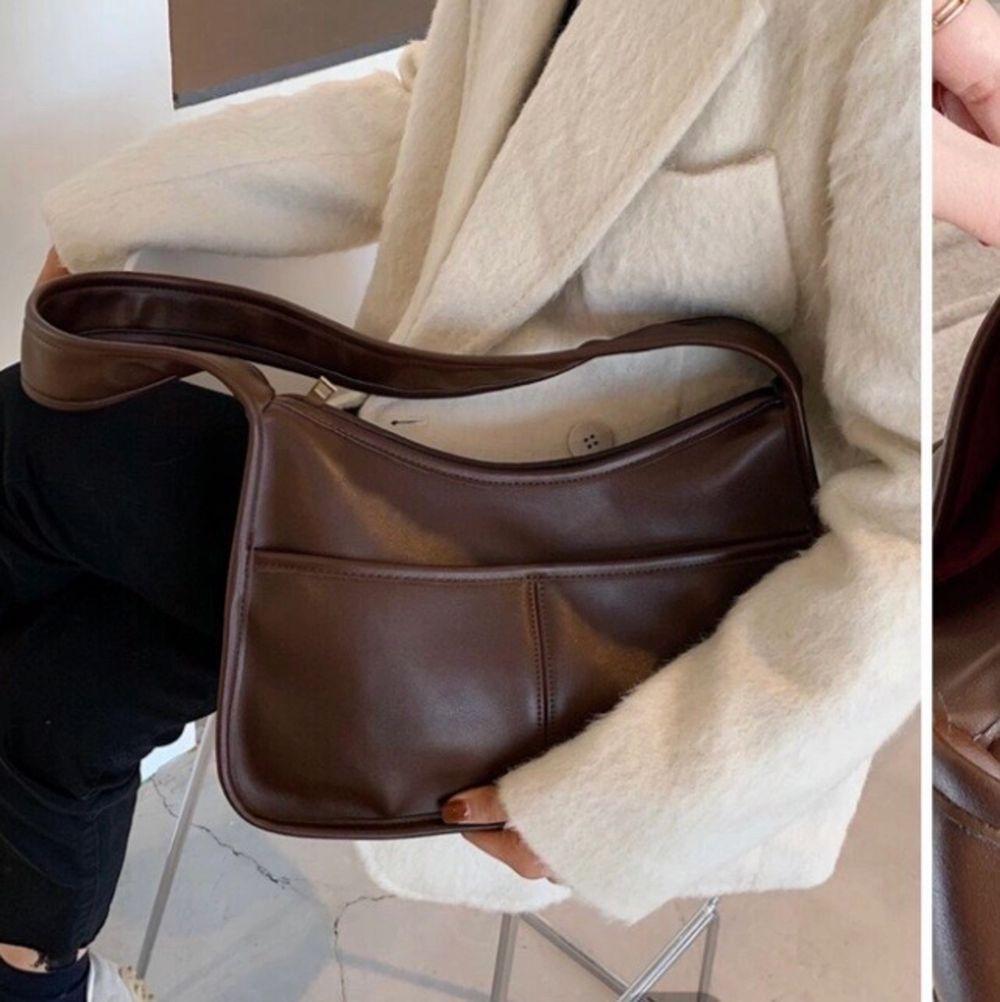 Helt oanvänd brun väska! + 63kr frakt!. Väskor.