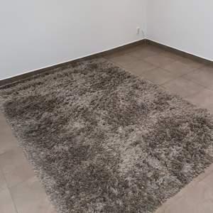 Fluffig matta, grå, 240*170 cm