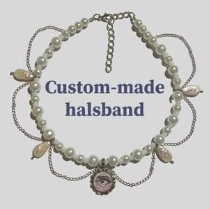 Beställ halsband från mig!💗 Kan återskapa redan gjorda halsband eller skapa ett utifrån dina önskningar av färger, berlocker mm. eller från inspobilder! Gjorda av unika glaspärlor, sötvattenspärlor och enstaka plastpärlor. Bilderna är några redan sålda halsband jag gjort åt andra, priset varierar kring 160kr (standardfrakt ingår alltid i priset, extra kostnad vid spårbar❤️) Kolla gärna in min instagram @Flyingladybugz där jag säljer fler smycken och även tar emot beställningar<3