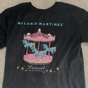 en t-shirt från melanie martinez med hennes låt carousel. Storlek M och sitter mig perfekt.