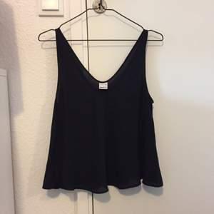 Tunt svart V-ringat linne från ginatricot, aldrig använd. Frakt inräknat i priset.