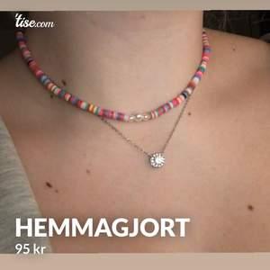 Hemmagjort färglatt halsband 🤩🤩 Först till kvarn!!