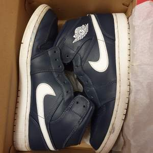 Vintage Jordan 1 navy blue! 100% äkta, storlek EUR 44 (900kr+95kr frakt)