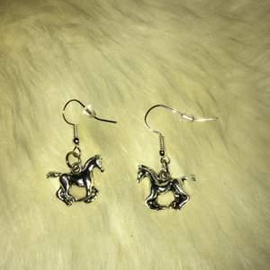 Örhängen med berlock säljes! Superfina örhängen med en häst-berlock🐎  Dessa örhängen är ca 3 cm med örhängeskrok☺️