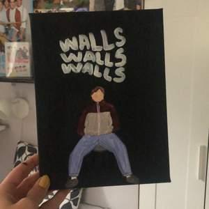 En canvas tavla inspirerad av omslaget till albumet walls av Louis Tomlinson!