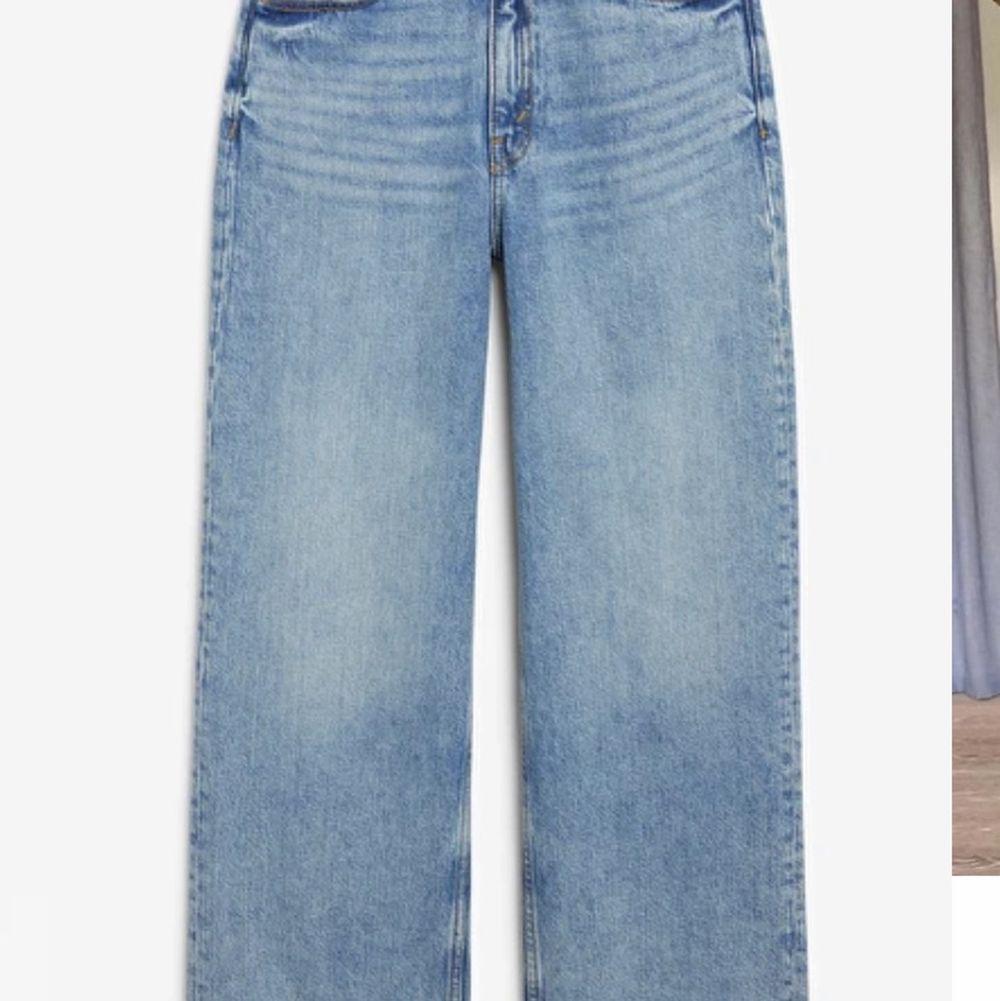 Säljer mina underbara monki jeans i modellen mozik. De är använda rätt så mycket men de är i fint skick. Köpta för ca 1 år sedan. Säljs pga att jag inte använder de lika mycket längre. Pris: 120kr ( frakt är medräknat i priset ) . Jeans & Byxor.
