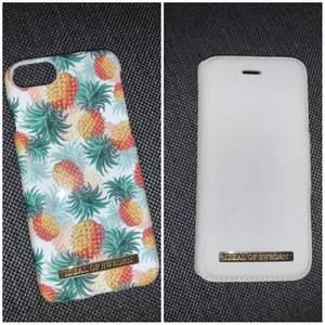 Två superfina Ideal of sweden skal som ej passar min nuvarande mobil:/ Passar både IPhone 7 & 8. Båda är magnetiska och i fint skick. Dock är det svarta skalet som följer med det vita något trasigt, men man kan ha vilket skal från ideal of sweden som helst med det vita:) Det vita har även två korthål. 50 kr styck eller 80 kr för båda, och jag kan bjuda på frakten💞
