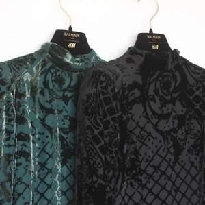 Säljer min gröna satin klänning från balmain endast använt 1 gång. Detta var samarbete mellan H&M x Balmian och finns ej att köpa längre. Nypris: 1499:-