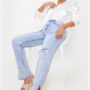Säljer dessa byxor som är helt nya, (har prislapp kvar). Säljer pågrund av att dom är för långa för mig som är 164.
