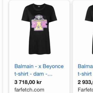 Helt slutsåld t shirt från balmain x Beyonce! Köpt för ca 3000kr, men säljer pga inte kommer till användning 😪 OBS: rosa färgen