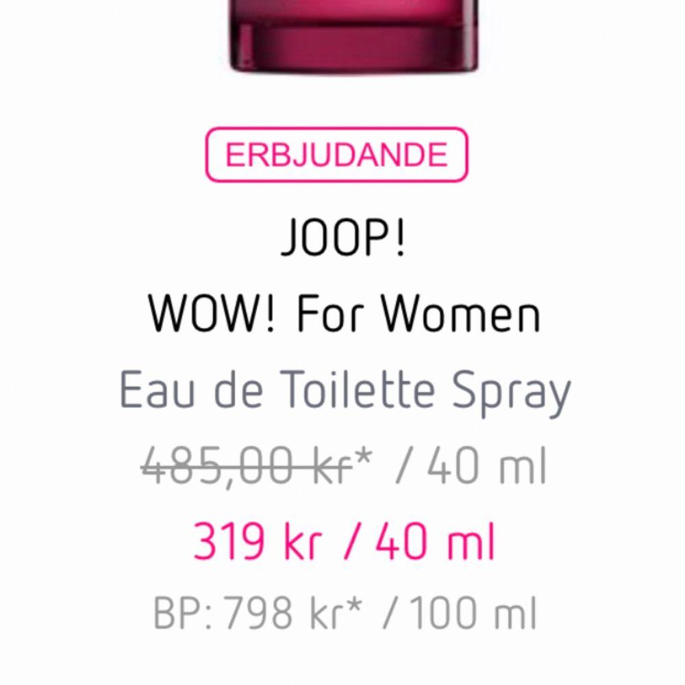 Säljer min joop wow parfym som är 100 ml! Kan gå ner litegrann i pris om den hämtas idag! . Övrigt.