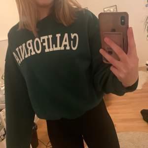 Grön sweatshirt från SHEIN, Storlek L för att ha den lite oversized men blev inte för stor. Köptes för 140kr och jag har aldrig använd den, fick hem den idag. Köparen står för frakten 😊