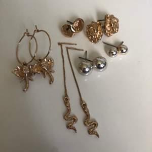 Säljer mina snygga H&M örhängen som bara provats! 15kr/st och 70kr för alla 6st 😊😊