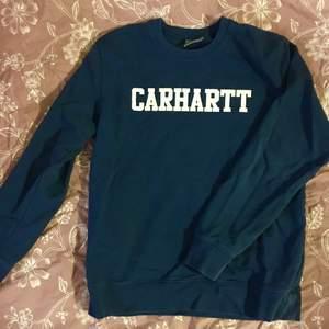 Snygg och skön blå tröja från Carhartt i bra skick. Strl L. 200 + frakt/porto