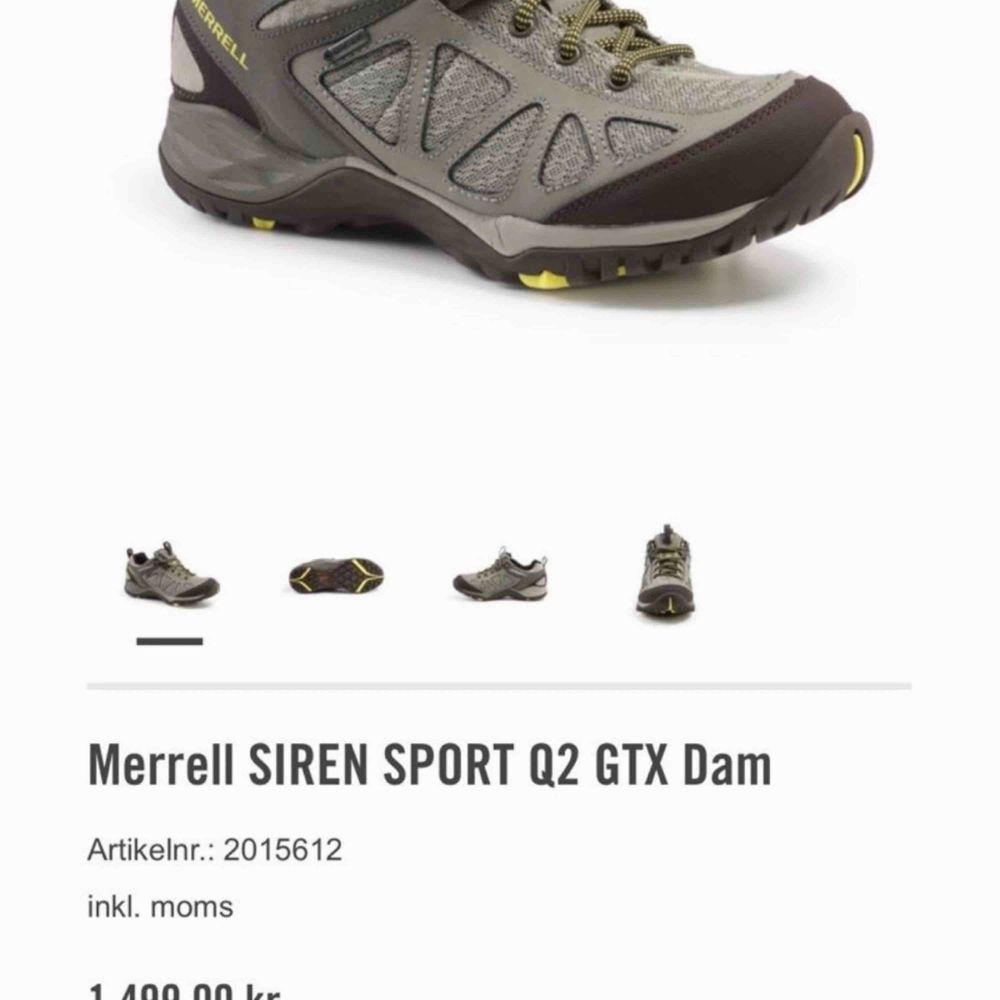 Helt NY! MERRELL SIREN SPORT Q2 GTX Kön: DAM Storlek: 41 Färg: Dusty olive Material: Skinn och mesh Ny pris: 1499 kr. Skor.