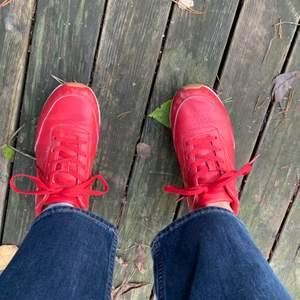 Asballa röda sneakers från din sko. Väl använda. Lite smutsiga, men går att tvätta, och några få slitningar men i övrigt fint skick. 50kr + frakt