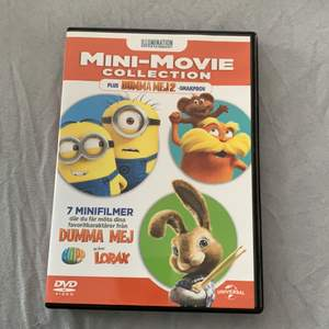 Säljer denna skiva med 7 mini filmer i!! Det finns även 3 spel och ett smakprov av dumma mej 2