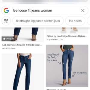 säljer lee loosefit jeans så de är förstora för mig , slitna mellan benen men laggade snyggt