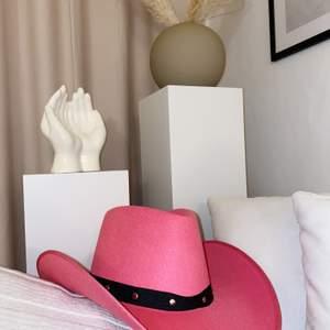 Säljer min snygga rosa cowboyhatt då jag i sista sekund valde en annan utklädnad. Den är helt ny och har prislappen kvar. 150kr inkl frakt. Billigare vid snabb affär.