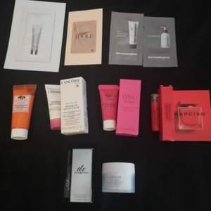 Säljer olika hudvårdsprodukter/parfymer som inte kommer till användning. Fick sakerna tillsammans i en giftbox. Vissa saker är endast provade och resten är aldrig använda. Säljer också en necessär som är genomskinlig (ny). Kontakta mig för mer info/pris!