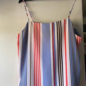 Jättefin randig klänning från Monki, hyfsat använd men i gott skick. Storlek L men sitter bättre på M. Frakten är inräknad🤗