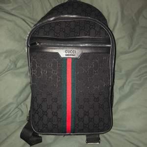 Ej äkta! Gucci ryggsäck. Aldrig använd. Pris kan diskuteras annars högstbjudande.