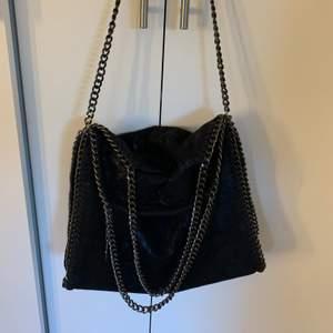 Fin väska i nyskick, minns tyvärr ej vart jag köpt den. Rymlig och bra kvalite.