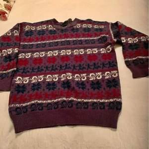 Vintage 100% ull Norsk ull tröja Size m