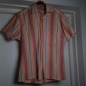 Randig 90-talsskjorta, herrstorlek S 🏵️