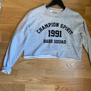En croppad sweatshirt som är snyggt till allt! Frakt 60kr eller mötas upp