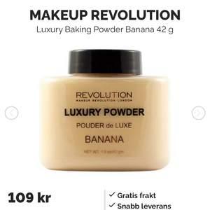 Ett löspuder från makeup revolution i färgen banana. Använt 1/3 av produkten men tycker den är för gul för mig. Nypris 109kr MITT pris 39kr. Frakt ingår inte.
