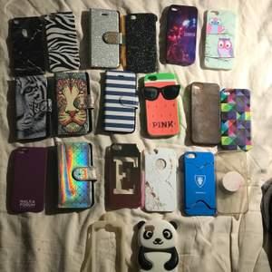 MASSA iPhone 5 mobilskal i olika skick🔮alla för 50kr alla är i lite olika skick vissa sämre men majoriteten är i bra skick men ser tydligt på bilden om ett skal är i sämre skick