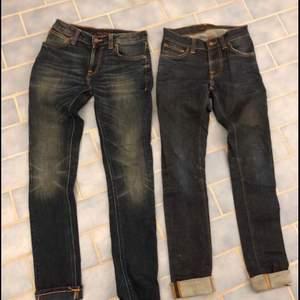 Två par Nudie Jeans i storlek 26 32. Bra skick med få tecken på användning.