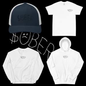 """Från mitt eget klädmärke Black Cop                          """"$ober"""" Unisex T-Shirt 249 SEK  """"$ober"""" Unisex Hoodie 349 SEK  """"$ober"""" Unisex Sweatshirt 339 SEK  """"$ober"""" Trucker Hat 299 SSK Everything is available in sizes S-XL"""