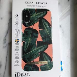 Helt oanvändt och oöppnat skal från ideal if sweden i modellen coral leaves för iphone X/XS