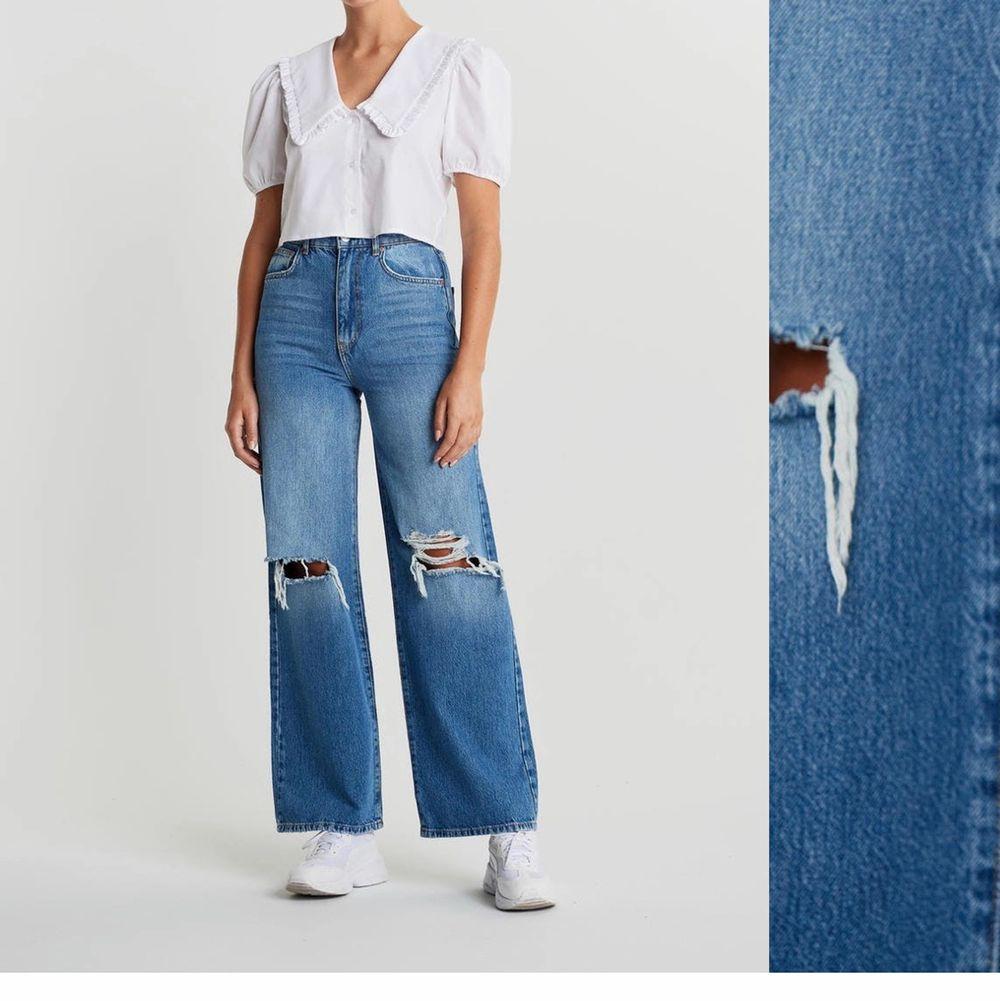 Tänkte kolla om det fanns något intresse på mina Idun wide jeans. Slutsålda i de flesta storlekar, passar perfekt för xs/s. Hör av er vid seriöst intresse💕 Köpta för 599 kr. Jeans & Byxor.