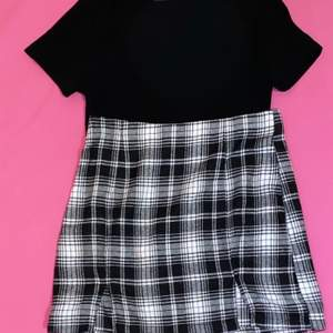 BOTH OF THESE ITEM IS FROM SHEIN. NEVER BEEN USED. Shirt size : Xs | skirt size : Xs