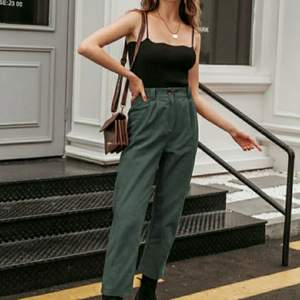 SheIn high waisted green pants.  Very good quality unfortunately big for me. Haven been worn, only tried on.