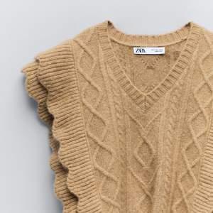Superfin stickad väst från Zara i storlek S. Köpt för 400kr säljer för 200kr + frakt 😇
