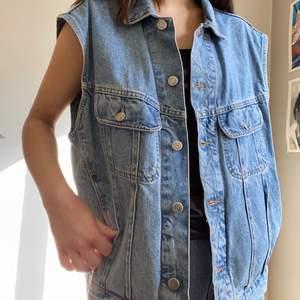 Jättefin vintage jeansväst, köparen står för frakt💕