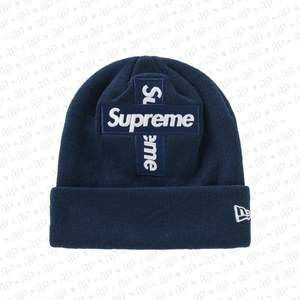 """SUPREME CROSS BOGO BEANIE """"NAVY""""  ONE SIZE  Ny med tags."""