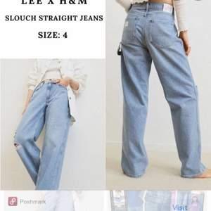 Säljer dessa as snygga jeansen från Lee X hm i strl 34 och använda Max 2 gånger då det inte är min stil, inköpta för 399kr och kan sälja vid bra bud❤️❤️