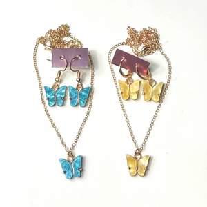 Säljer dessa super finska smycke set med fjärilar! Helt nya, alltså inte använda! Frakt tillkommer 12kr❗️ Finns i flera färger om du kollar min profil🥰 49kr st