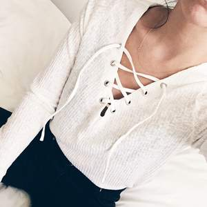 H&m lace up shirt, white, cream color. New, unworn. Size M  Pick up available in Kungsholmen  Please check out my other items! :)
