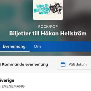 Jag söker biljetter till Håkan Hellström konserten på Ullevi 2021. Har någon en eller flera STÅPLATS biljetter så kontakta mig här på Plick.