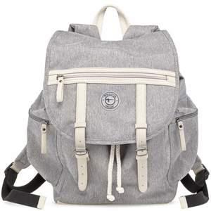 Ryggsäck från Tamaris, oanvänd.  Färg: grå. Material: polyester och läder. Mått: 40x25x15cm